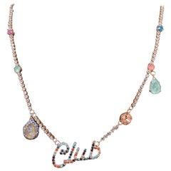 LisaC Club multicoloured swarovski stones necklace
