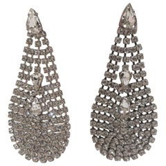 LisaC crystal swarovski pendant drops earrings
