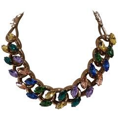 LisaC multicolour swarovski stones necklace