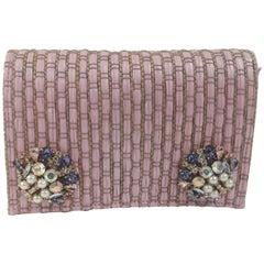 LisaC pink rafia swarovski Shoulder bag / Fanny pack