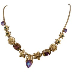 LisaC shells stars swarovski stones necklace