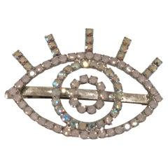 LisaC swarovski eye hair clip