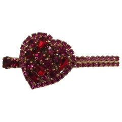 LisaC swarovski heart clip