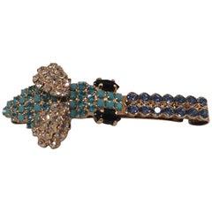 LisaC swarovski stone bee hair clip