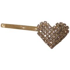LisaC swarovski stone heart hair clip
