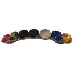 LisaC swarovski stones hair clip