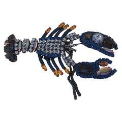 LisaC Swarovski stones lobster brooch
