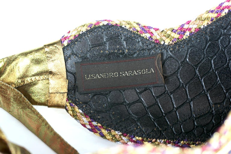 Women's or Men's Lisandro Sarasola Extravagant Pieced Belt For Sale