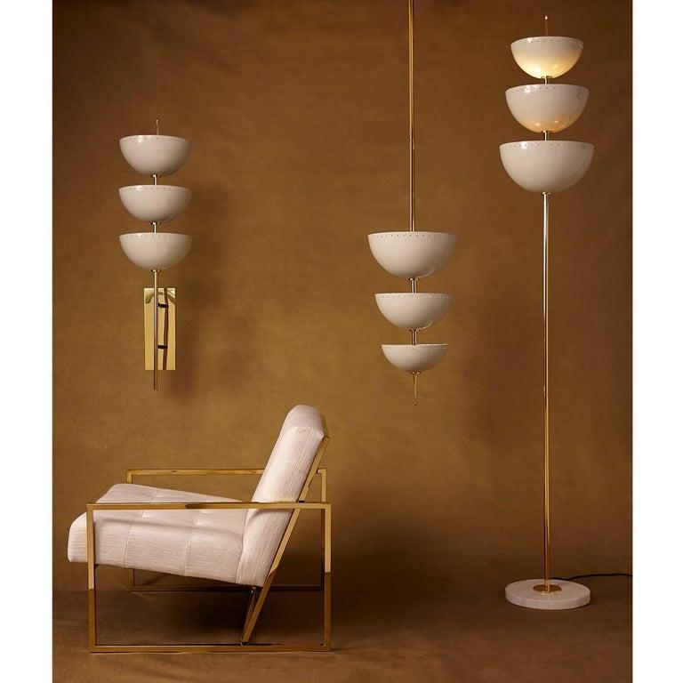 Modern Lisbon Brass and Enamel Pendant For Sale