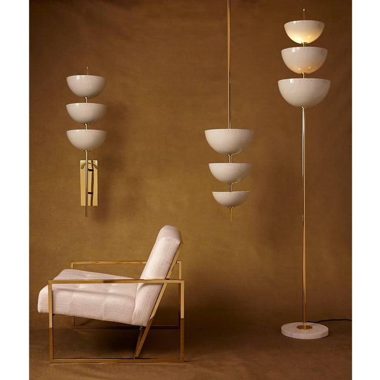 Modern Lisbon Brass and Enamel Sconce For Sale