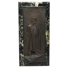 Lisney Banks Bronze Plaque of Napoleon Bonaparte