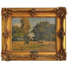 Listrac-Médoc Landscape Painted by Louis Cabié, '1929'