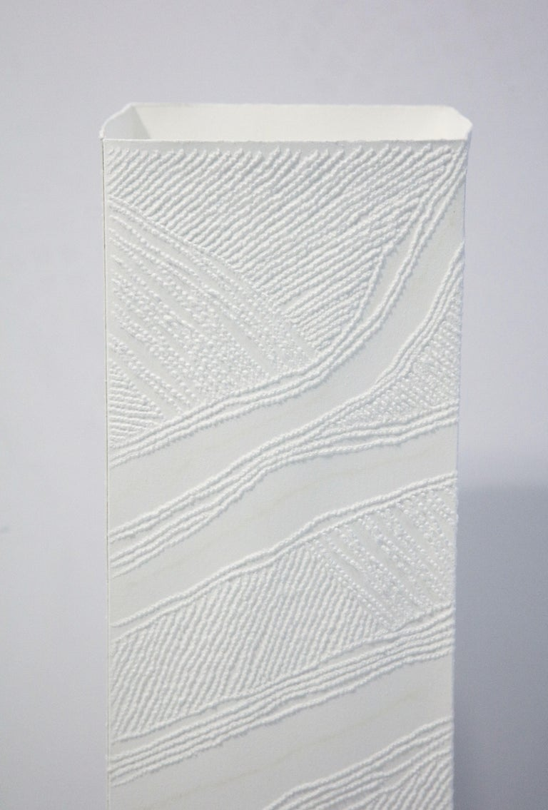 Fruitwood Lit Paper Sculpture by Antonin Anzil, France, 2018 For Sale
