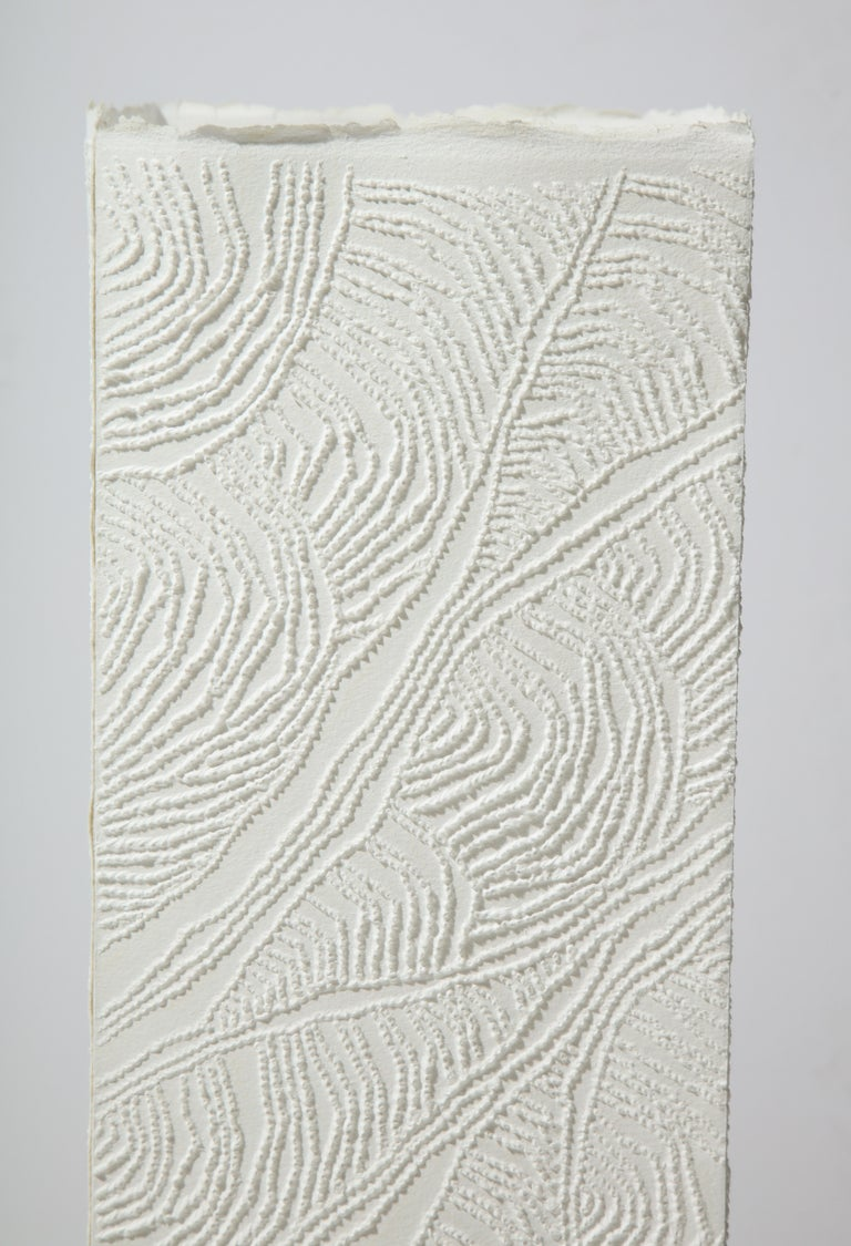 Wood Lit Paper Sculpture by Antonin Anzil, France, 2018 For Sale