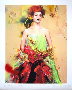 Color of Dew 02, Lita Cabellut, 2019, Ed. 20, Gliceé intervened by the artist