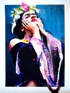 Frida, Lita Cabellut, 2019, Ed. 20, Gliceé intervened by the artist