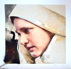 Johanna Van Delft, Lita Cabellut, 2019, Ed. 20, Gliceé intervened by the artist