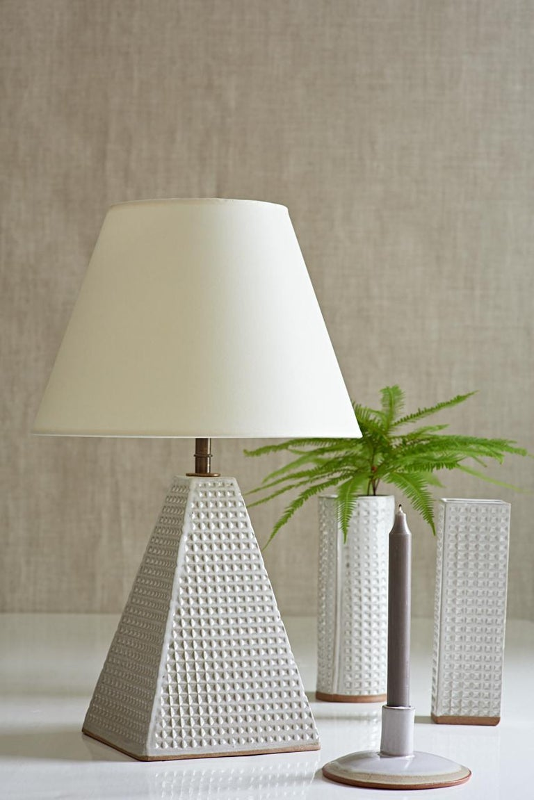 American Litchfield Lamp, Ceramic Sculptural Table Lamp by Dumais Made For Sale