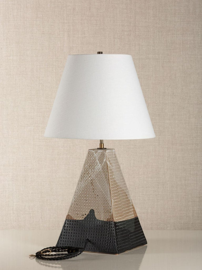 Modern Litchfield Lamp Tall, Ceramic Sculptural Table Lamp by Dumais Made For Sale