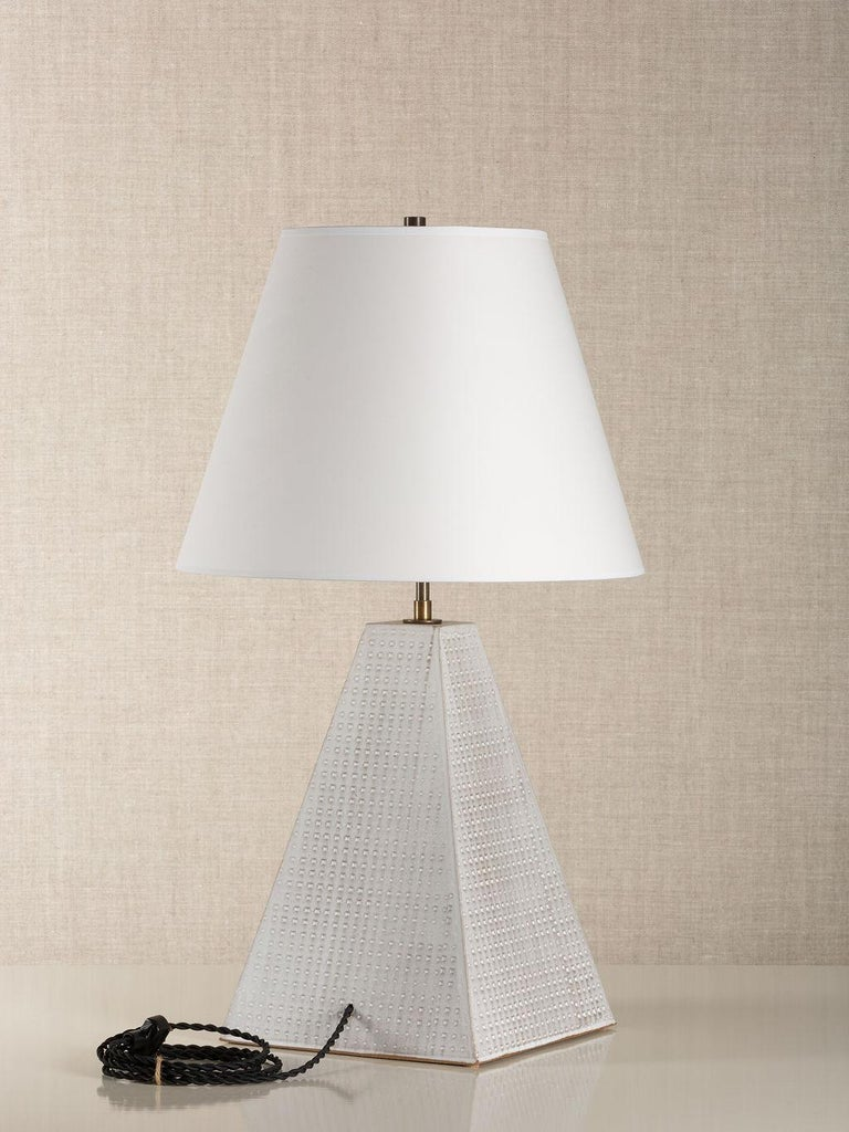 Contemporary Litchfield Lamp Tall, Ceramic Sculptural Table Lamp by Dumais Made For Sale