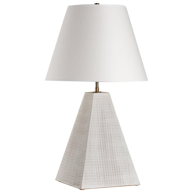 Litchfield Lamp Tall, Ceramic Sculptural Table Lamp by Dumais Made For Sale