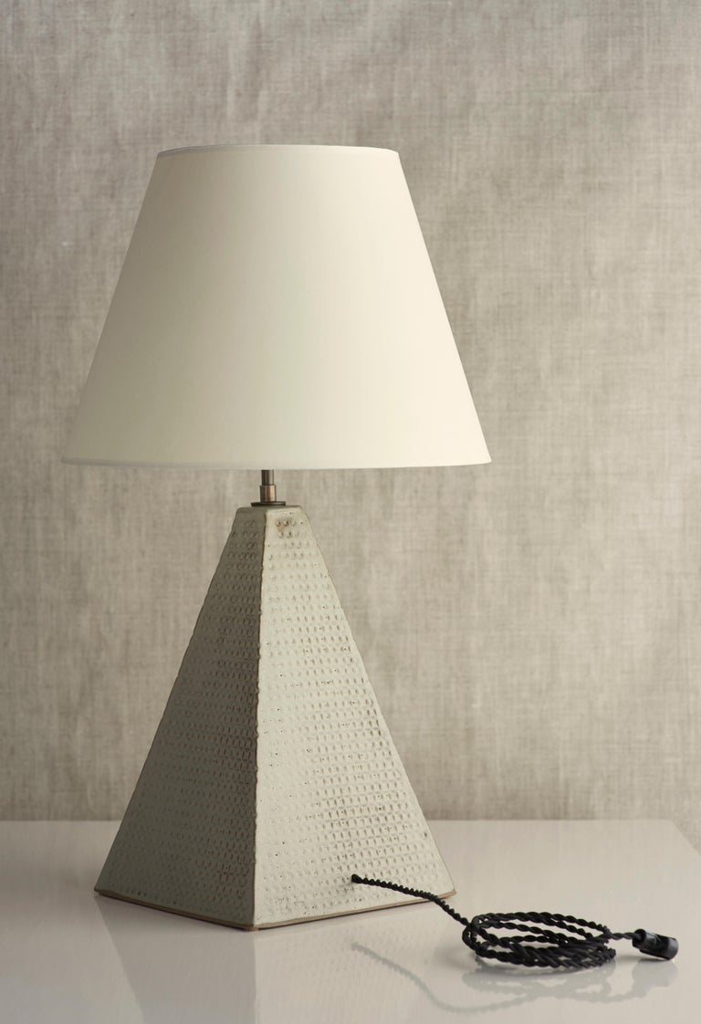 American Litchfield Lamp Extra Large, Ceramic Sculptural Table Lamp by Dumais Made For Sale