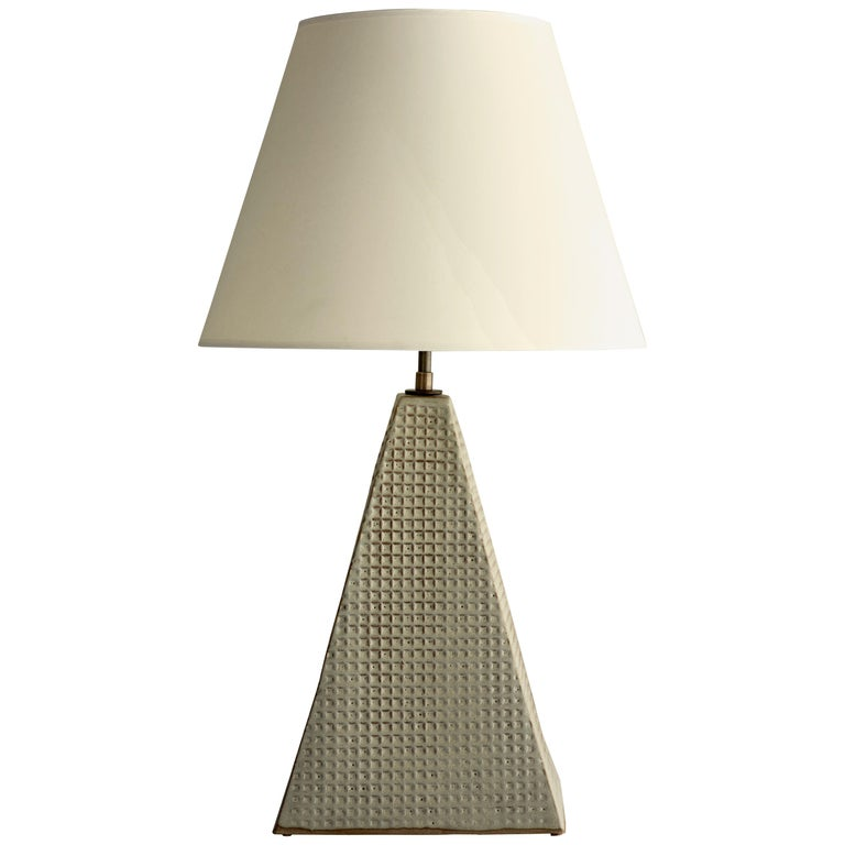 Litchfield Lamp Extra Large, Ceramic Sculptural Table Lamp by Dumais Made For Sale