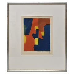 """Lithograph 28/100 Russian Artist Serge Poliakoff """"Composition"""" 395"""