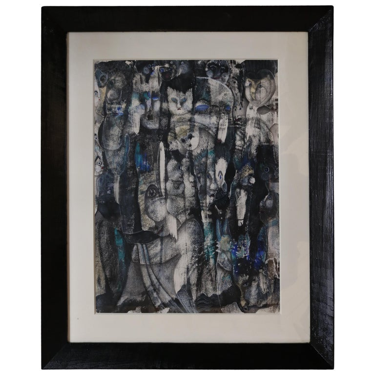 Lithograph by Visionary Art Movement Member Alexandra Docili For Sale