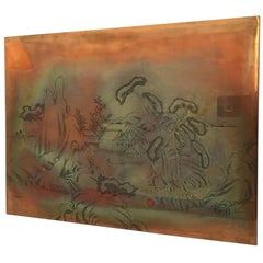 Lithograph Copper Plate Hand Reverse Etched for Print