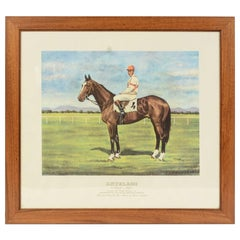 Lithograph Depicting the Horse Winner of the Italian Derby in 1962