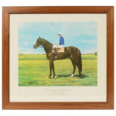 Lithograph Depicting the Horse Winner of the Italian Derby in 1963