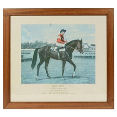Lithograph Depicting the Horse Winner of the Italian Derby in 1983