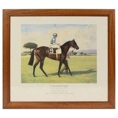 Lithograph Depicting the Horse Winner of the Italian Derby in 1989