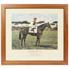 Lithograph Depicting the Horse Winner of the Italian Derby in 1991