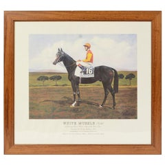Lithograph Depicting the Horse Winner of the Italian Derby in 1993