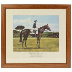 Lithograph Depicting the Horse Winner of the Italian Derby in 1994
