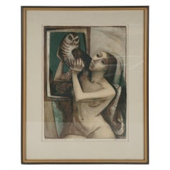 "Lithograph ""Eyes For the Night"" by Bento Murdock Spruance"