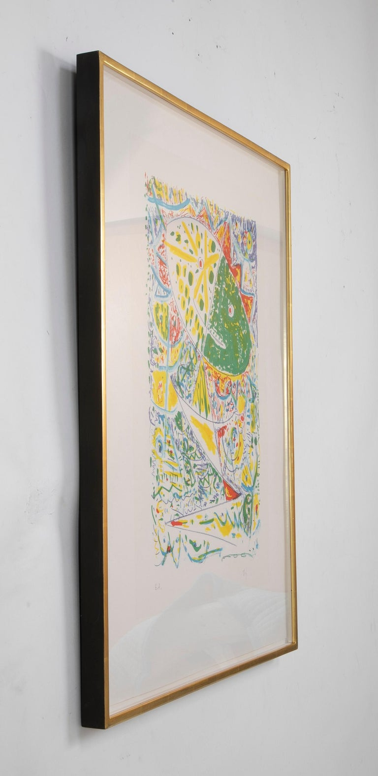 Paper Lithograph in Colors Composition by Egill Jacobsen For Sale