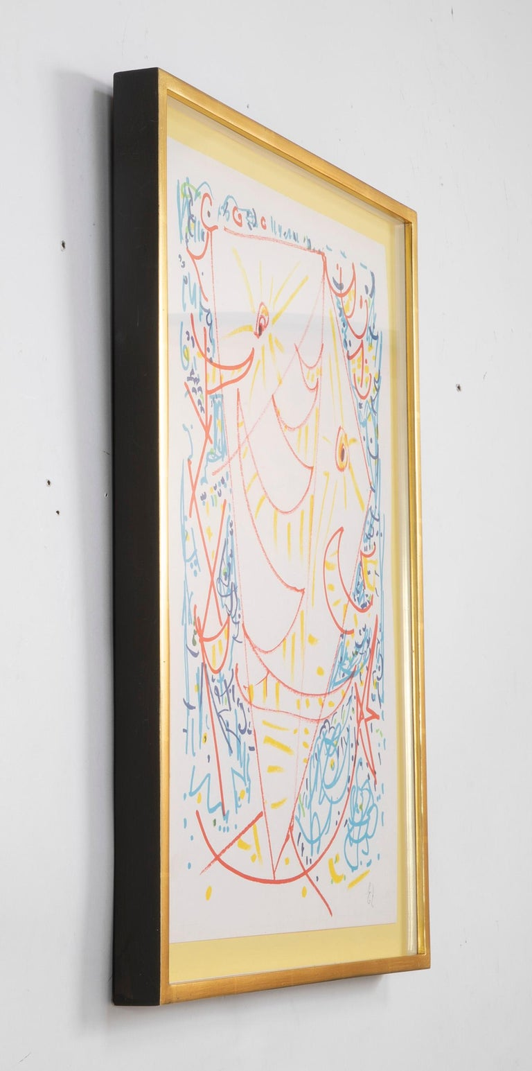 Lithograph in Colors Composition by Egill Jacobsen In Good Condition For Sale In Stamford, CT