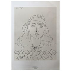 Lithograph of a Woman Portait by Pablo Picasso
