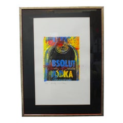 Lithograph of Absolute Vodka by Andy Warhol