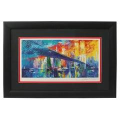 Lithograph of the Brooklyn Bridge