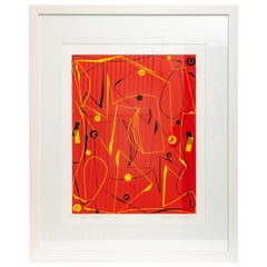 "Lithograph on Paper ""Red Maze"""