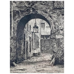 "Lithograph Titled ""Old Berlin"""