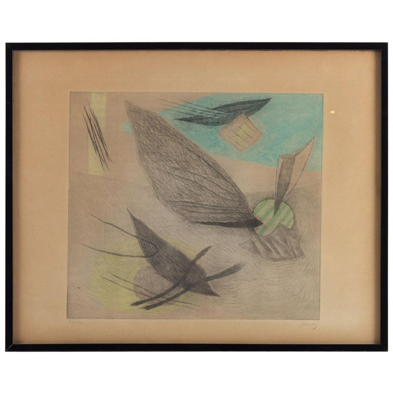 Lithography by Henri Goetz For Sale
