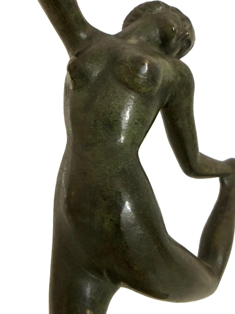 Little Dancing Bronze Sculpture, Art Deco, France, 1930s In Fair Condition For Sale In Baden-Baden, DE
