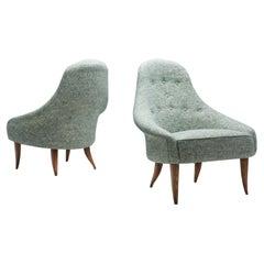"""Little Eva"" Easy Chairs by Kerstin Hörlin-Holmquist, Sweden, 1950s"