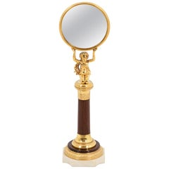 Little Mirror in Rosewood and Gilt Bronze, Empire Period
