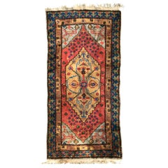 Little Vintage Sinkiang Rug, Antique Persian Style Rugs, 20th Century Carpets